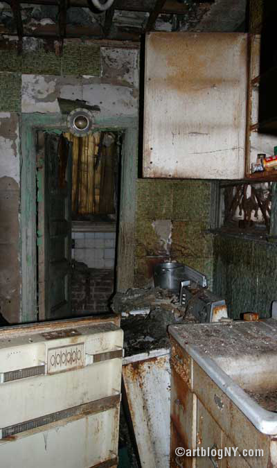 Harlem Townhouse: Burned Out Kitchen